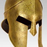 The helmet of an ancient Greek