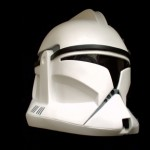 A clone trooper helmet