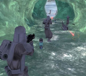 An ice cave from Battlefront
