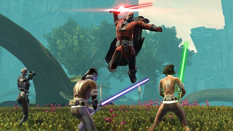 Many players await the chance to test their lightsaber prowess online.