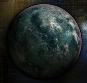The planet Taris.