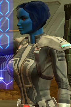 A Chiss agent from SWTOR. Positively charming!