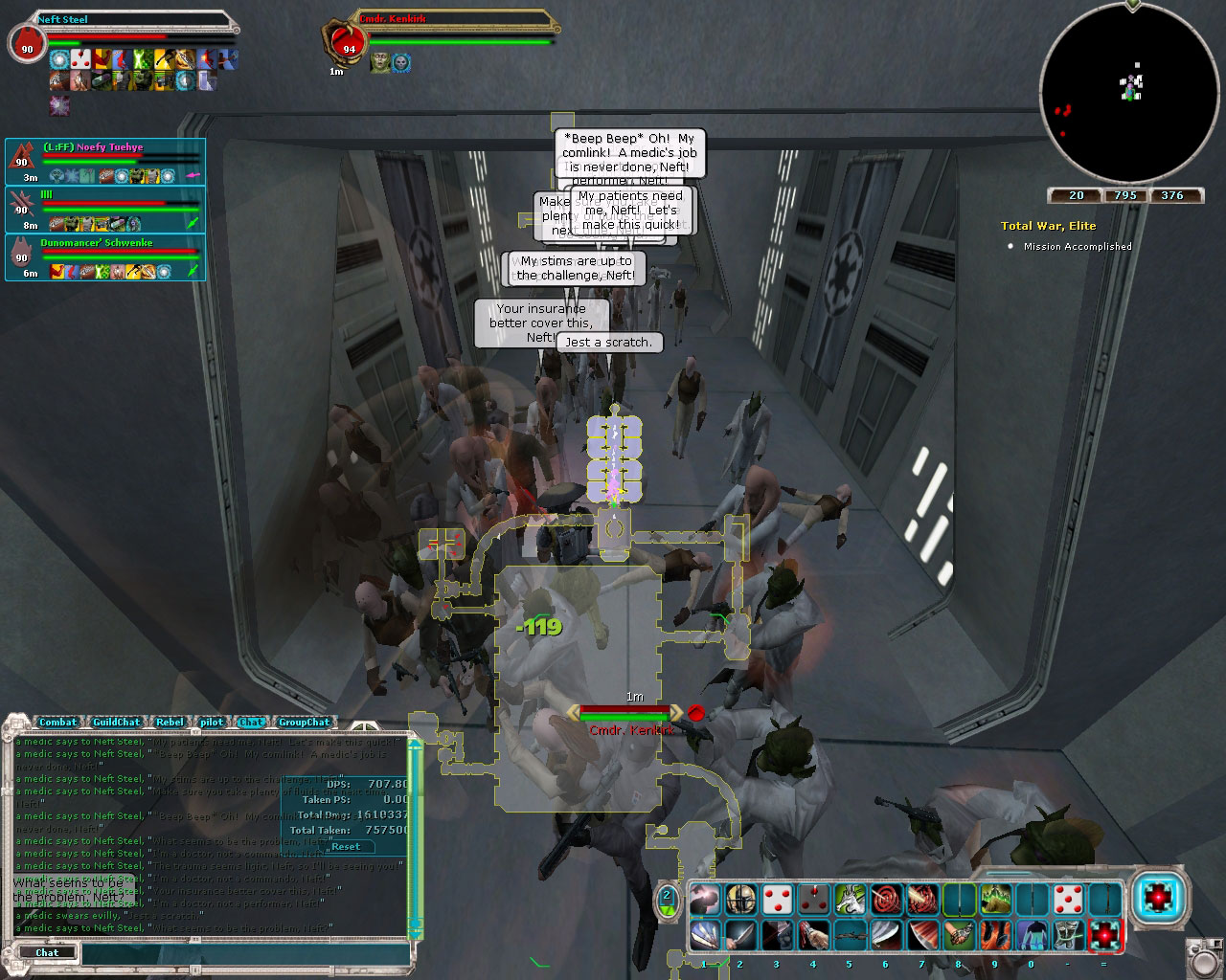 Doing an ISD run with our medic friends.