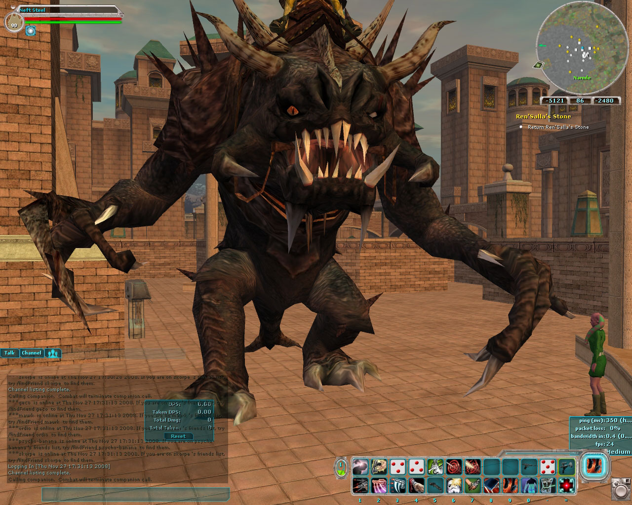 Riding my mutant rancor like a champ.