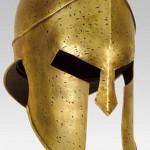 The helmet of an ancient Greek