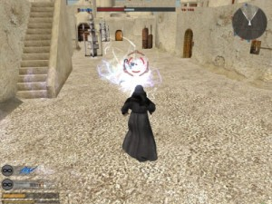 The Emperor goes to town on Leia in Instant Action mode