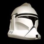 A clone trooper helmet