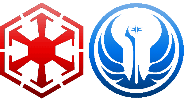 Players must choose one, Republic or Empire. Guilds cannot contain both.