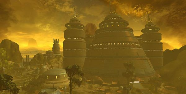 Some of Hutta's grand palaces. Evidently the B'omarr architects that designed Jabba's palace were inspired by the Hutt species which would one day invade their privacy