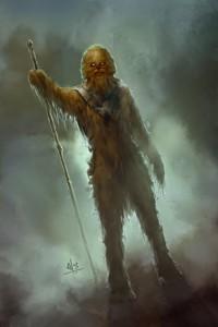 A fan's impression of a Wookiee