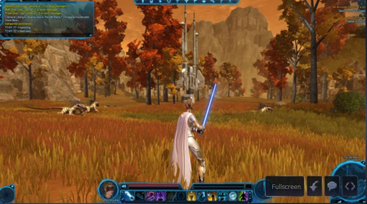 The current user interface of SWTOR. Looks nice doesn't it?