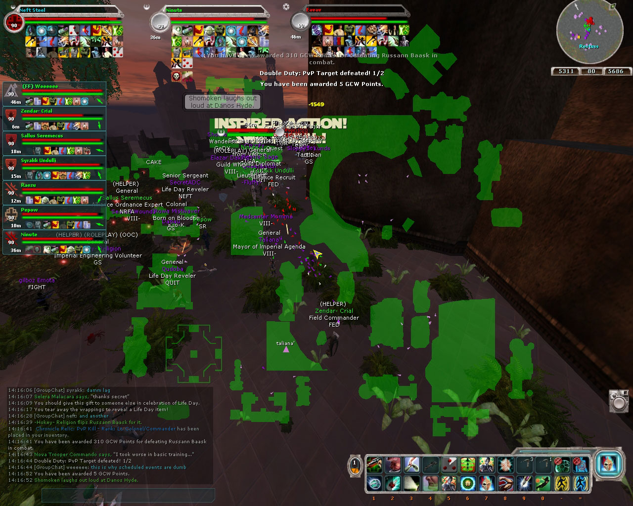 Sharing the joy of lifeday with my PVP friends.
